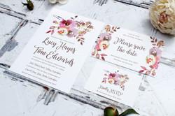 i love and love wedding invitations
