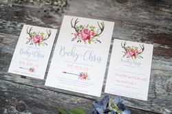spring floral wedding stationery