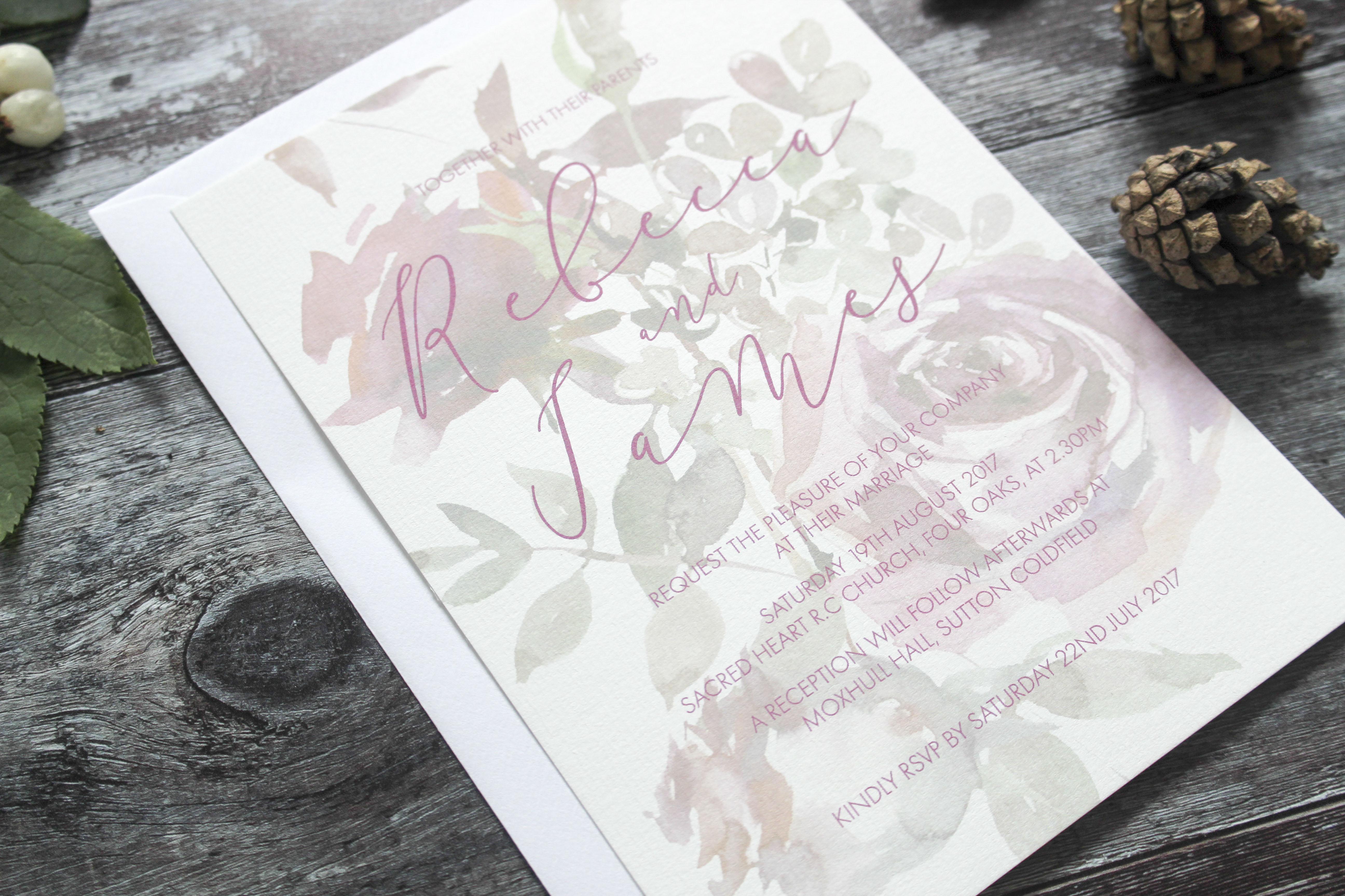 winter berry invitation