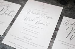 luxury wedding invitation set