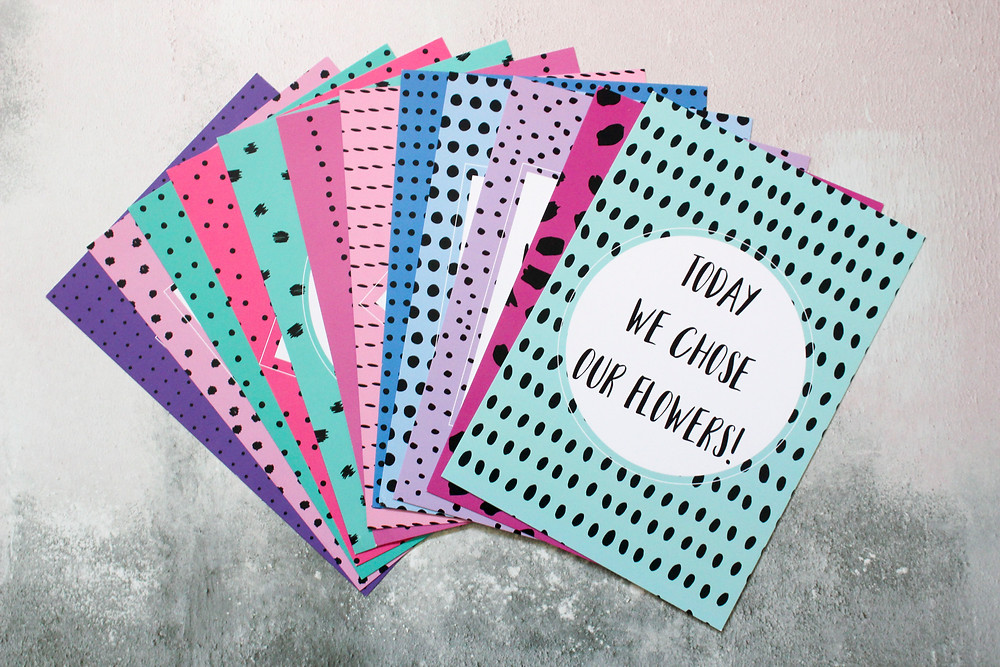 Engagement countdown cards