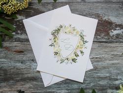 botanical wedding crest