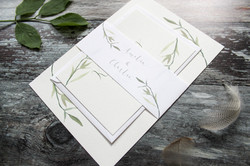 green wedding invitation bundle