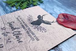 stag deer wedding invitations