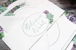 Succulent wedding invite bundle