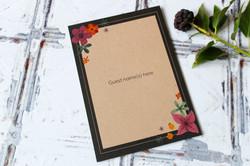 rustic floral kraft wedding