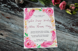bohemian floral feather wedding
