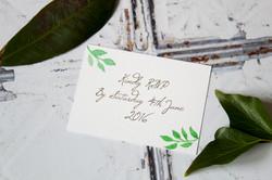 classic botanical wedding invitation