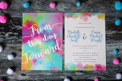 bright wedding invitaitons