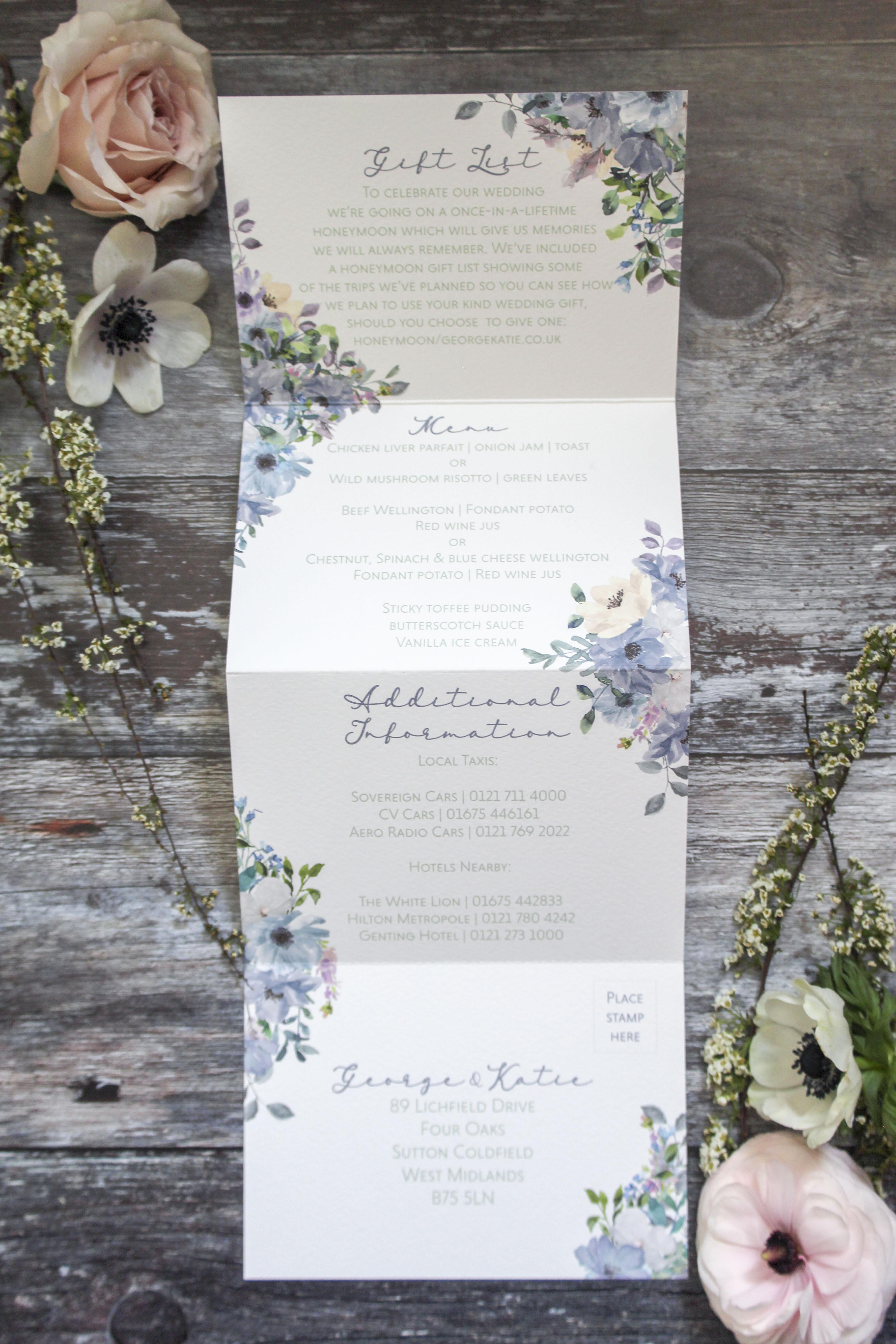 concertina wedding invites