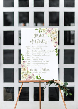 Floral personalised wedding sign