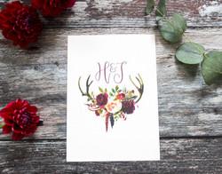 deer antler save the dates
