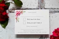 Floral wedding rsvp cards