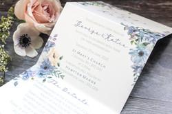 folded wedding invitation concertina