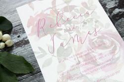 rustic floral wedding invite
