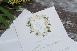 botanical wedding save the date