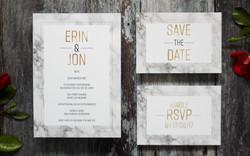 Marble wedding invitation suite