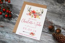 autumn wedding save the date