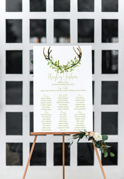 Boho leaf table plan