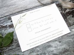 rustic rsvp cards wedding