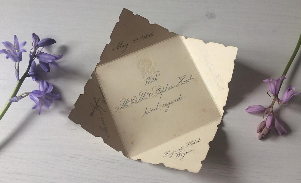 vintage antique wedding stationery i love and love
