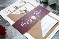 antler wedding invite bundle
