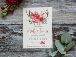 rustic save the date wedding