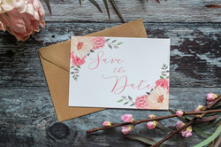 blush floral save the date