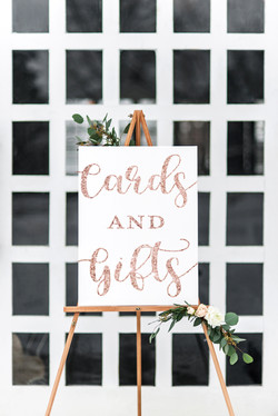 Wedding sign cards and gifts