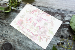 winter berry wedding save the date