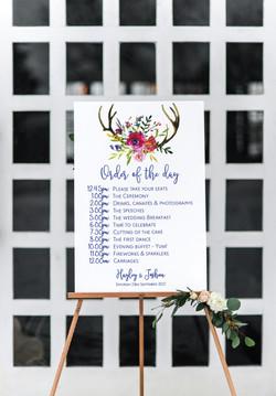 Deer antlers wedding sign