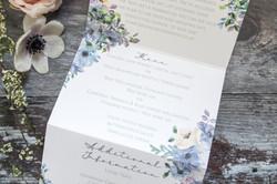 wedding menu stationery
