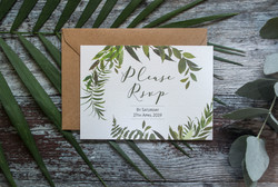 greenery rsvp card