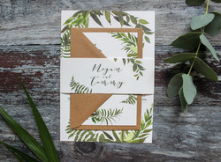 greenery wedding invitation bundle