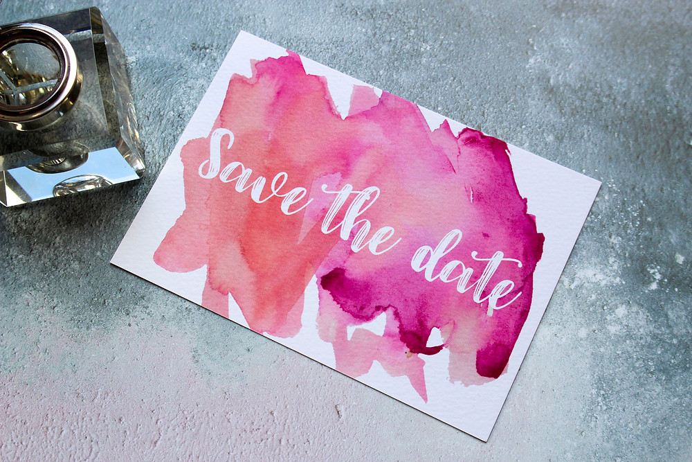 save the date cards watercolour i love and love