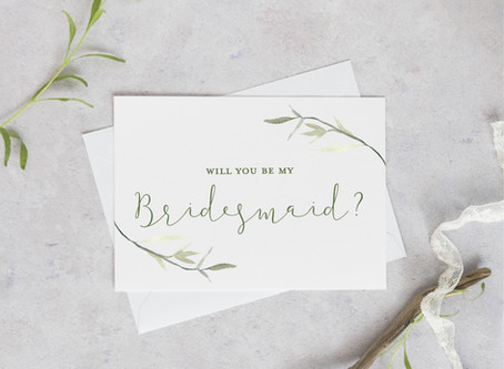 15% off our bridesmaid cards!