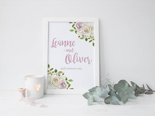 Leanne anniversary print