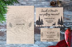 rustic forest wedding stationery