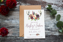antler save the date cards