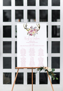 Pretty rustic wedding table plan