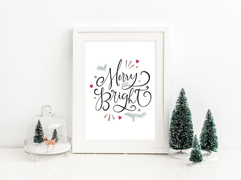 Merry and Bright print