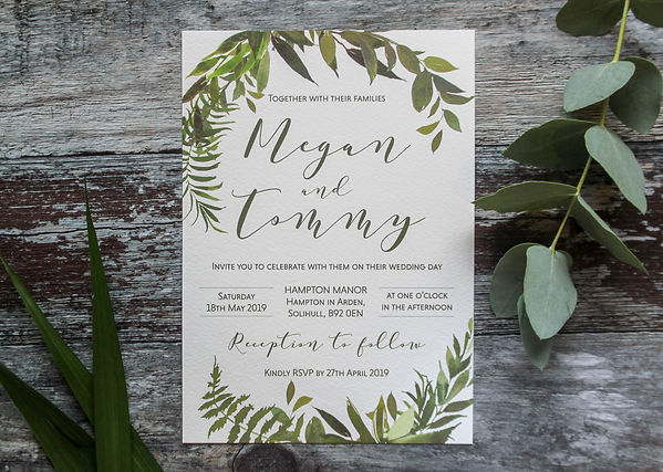 botanicla wedding stationery