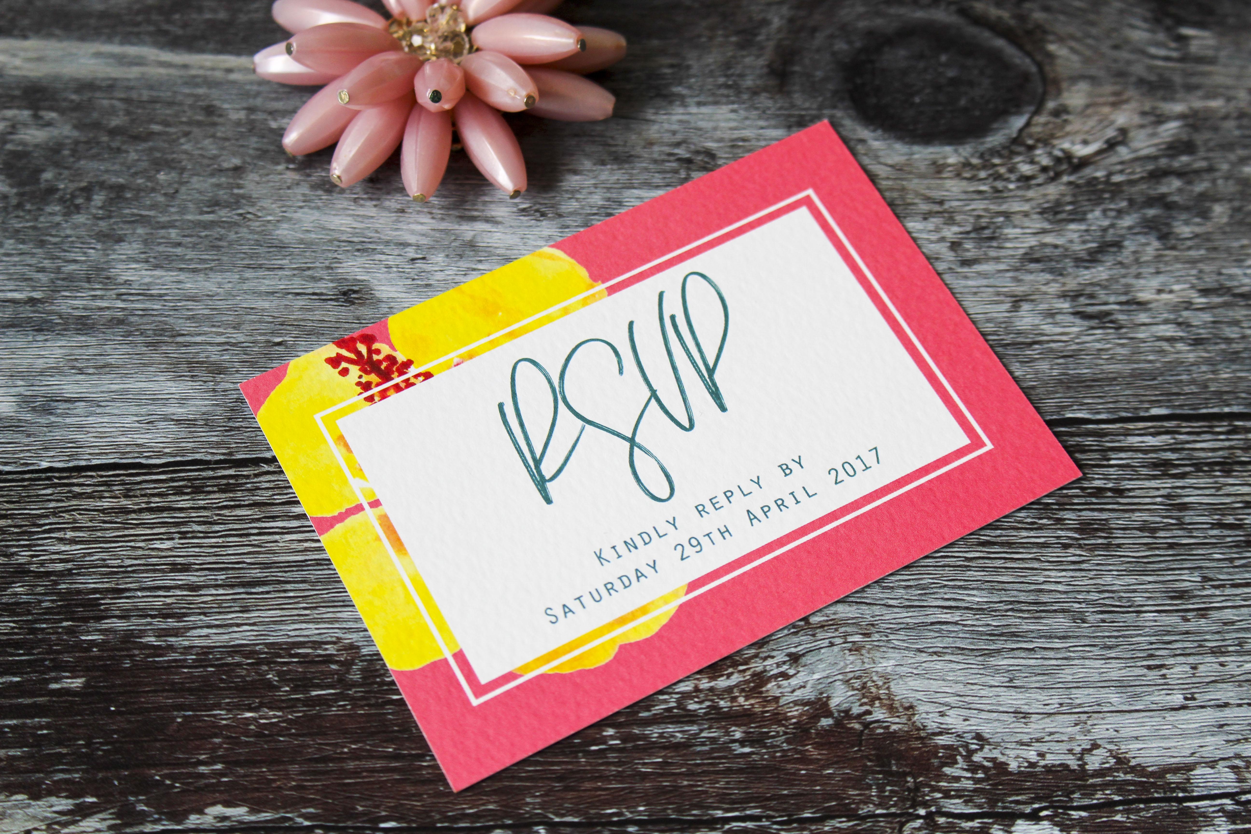 beach wedding invitations tropical