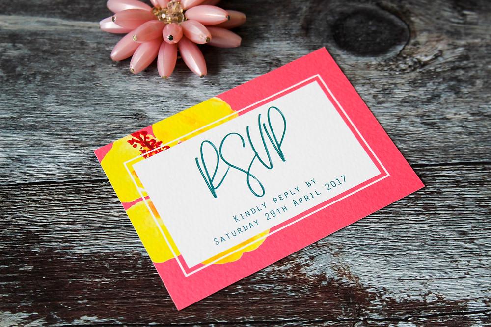 Wedding abroad stationery rsvp card wedding stationery