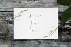 rustic botanical save the dates