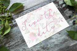 winter berry wedding save the dates