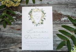 wedding crest invitation