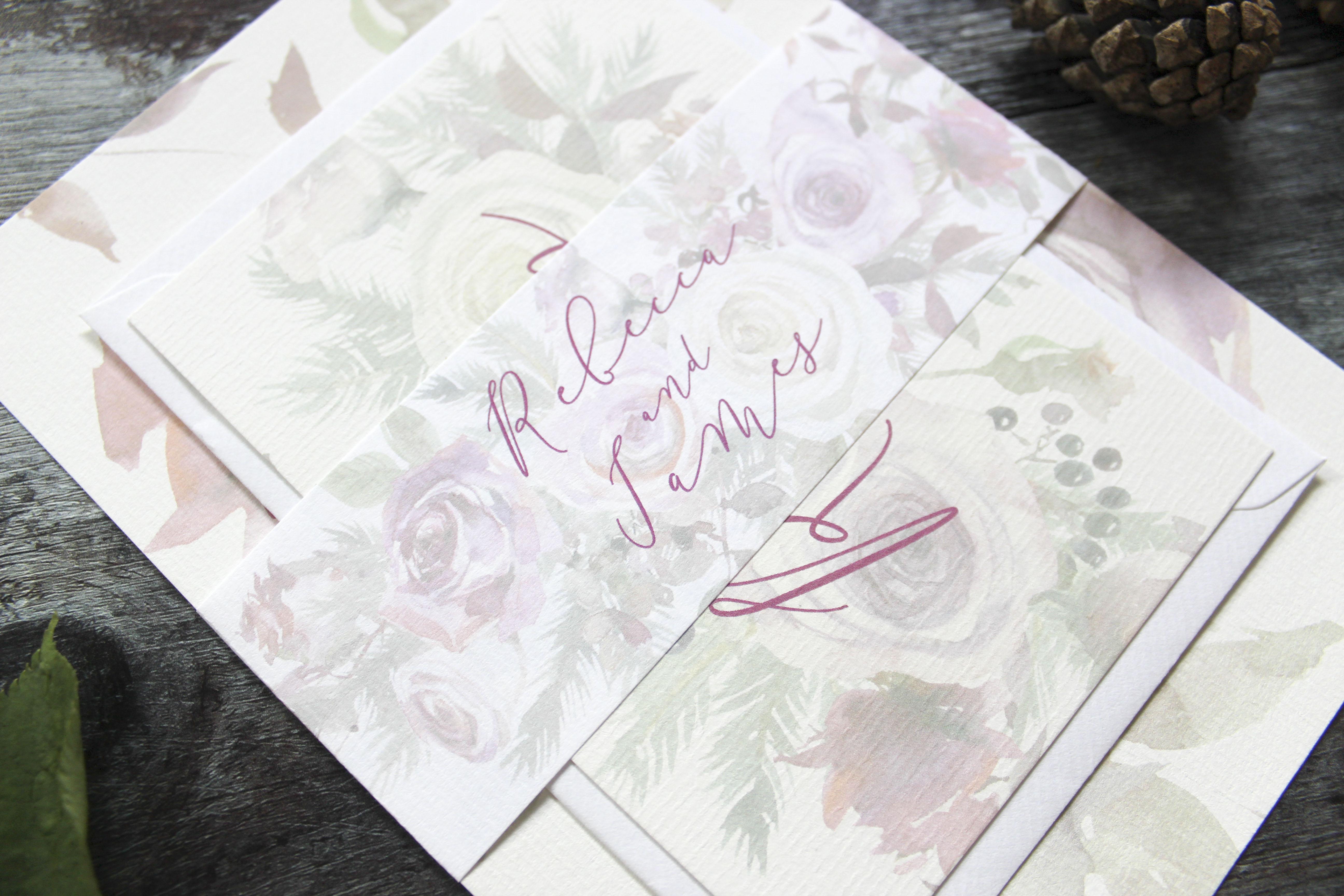 Winter wedding invite bundle