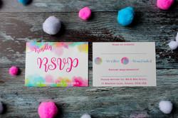 bright colourful wedding invitations