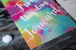 wedding invitations bright colours